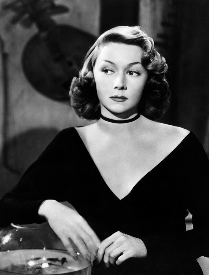 Black Dress Photograph - Macao, Gloria Grahame, 1952 by Everett