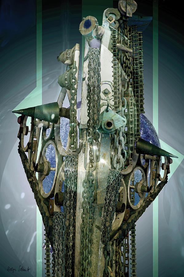 Fantasy Digital Art - Machinery 2 by Helga Schmitt