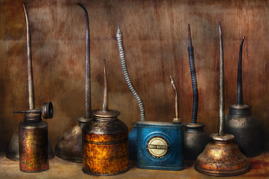 Machinst Photograph - Machinist - Tools - Lubrication Dispensers  by Mike Savad
