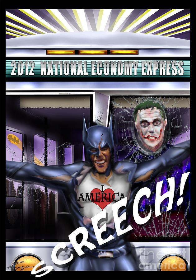 Batman Painting - Mad Men Series 6 Of -here We Go Again by Reggie Duffie