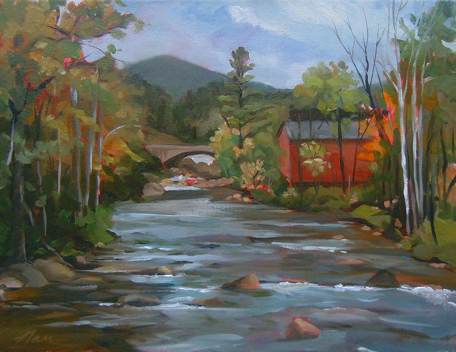 Mad River and Campton Bridge by Nancy Griswold