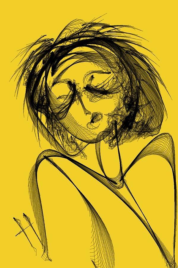 Abstract Digital Art - Madame Vicious by Hayrettin Karaerkek