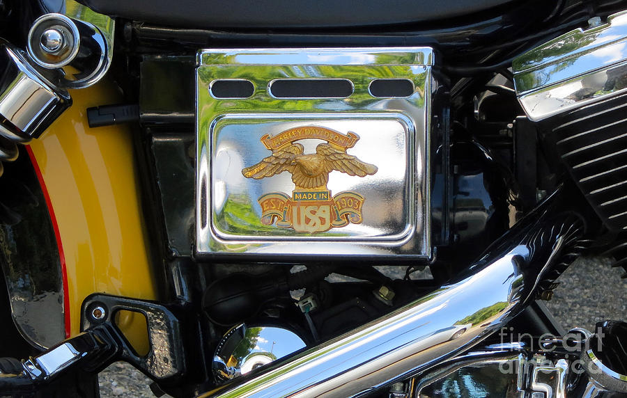 Motorcycle Photograph - Made In The Usa by Patricia Januszkiewicz