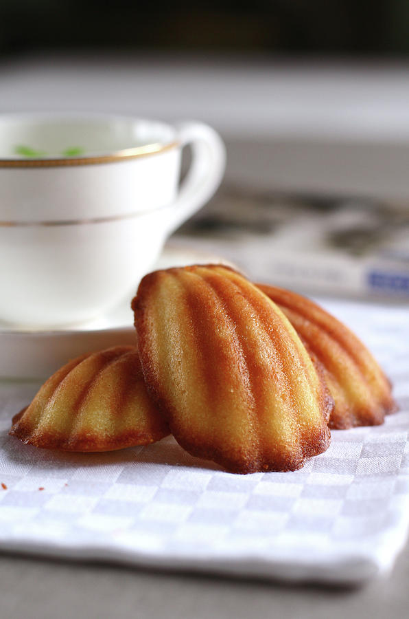 Vertical Photograph - Madeleines With Tea by Lulu Durand Photography