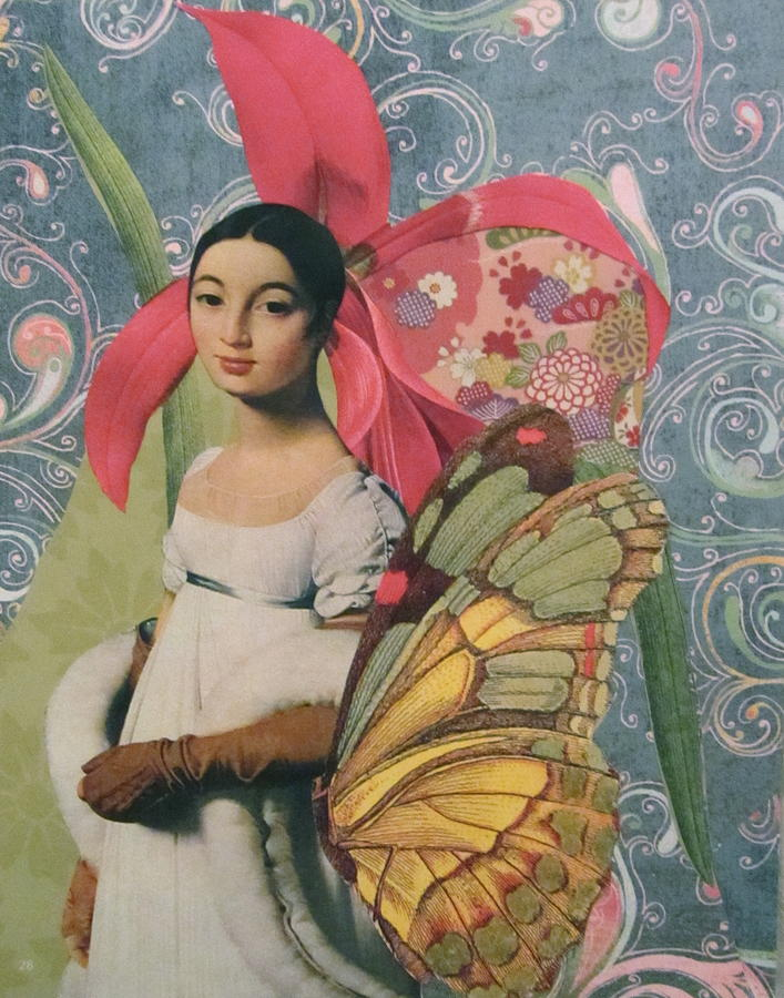 Collage Mixed Media - Mademoiselle Caroline  by Kanchan Mahon