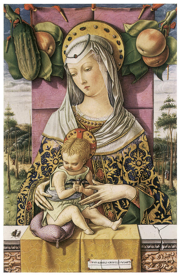 Carlo Crivelli Painting - Madonna And Child by Carlo Crivelli