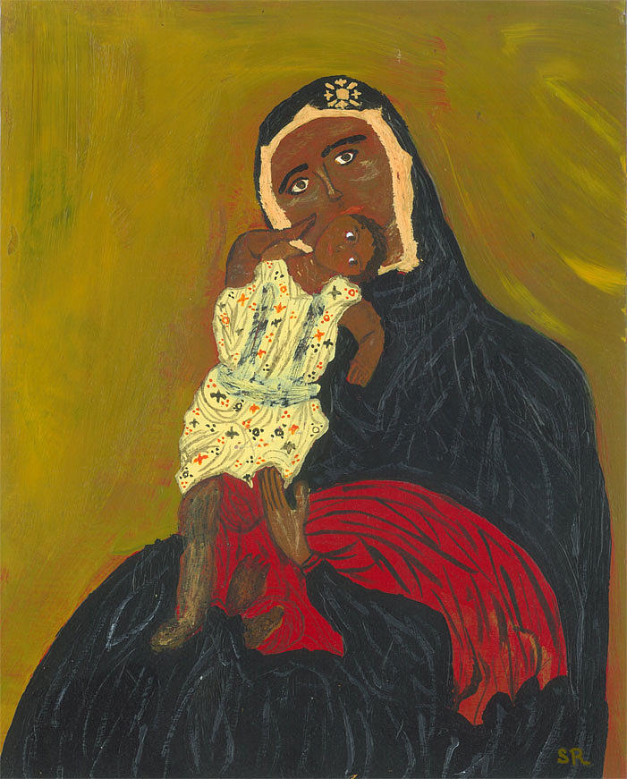 Spiritual Painting - Madonna And Child by Susan Risse