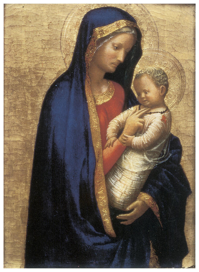 Madonna Painting - Madonna Casini by Tommaso Macassio