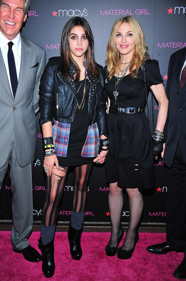 Madonna Photograph - Madonna, Lourdes Leon, Aka Lola by Everett