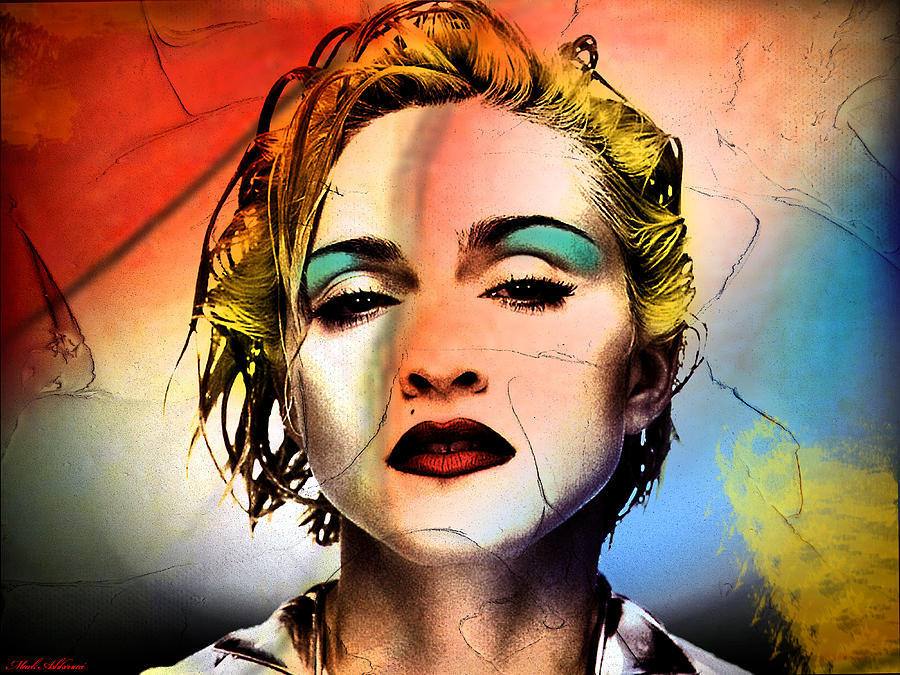 Madonna  Painting - Madonna  by Mark Ashkenazi