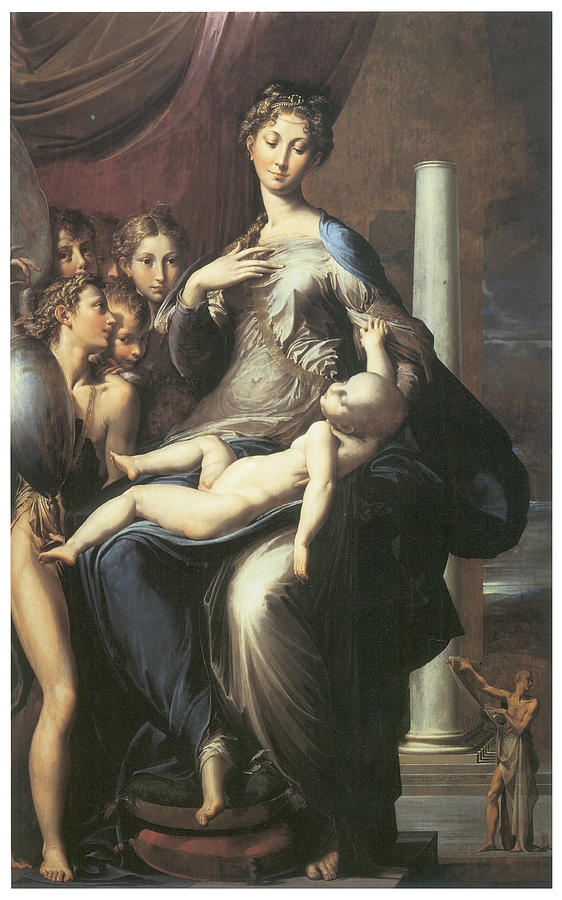 Parmigianino Painting - Madonna With The Long Neck by Parmigianino