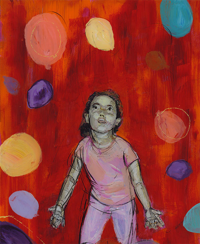 Balloons Painting - Mady by Eric Atkisson