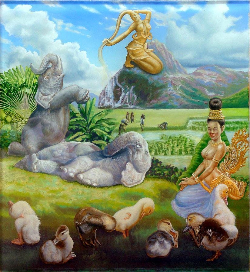 Apsara paintings fine art america apsara painting mae thorani by simon drost thecheapjerseys Gallery