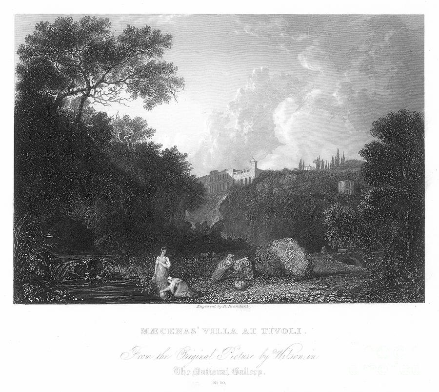 Ancient Photograph - Maecenas Villa At Tivoli by Granger