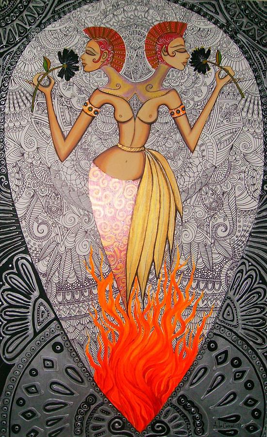 Women Painting - Magdalena Dos Cabezas by Aida Corral
