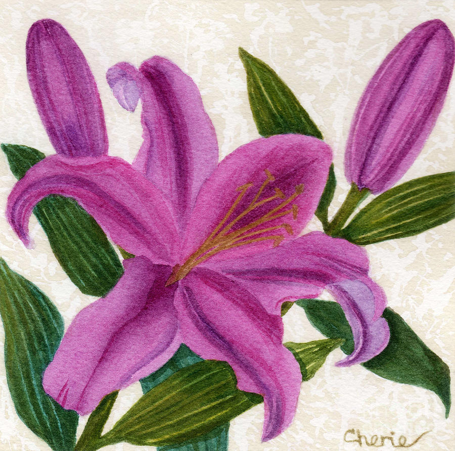 Lily Painting - Magenta Lily by Vikki Wicks