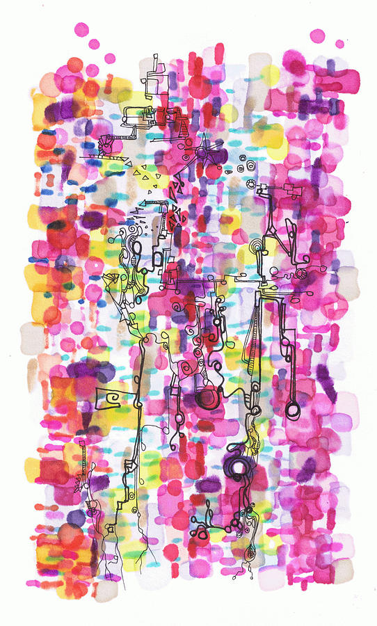 Magenta Drawing - Magenta Rhapsody by Regina Valluzzi