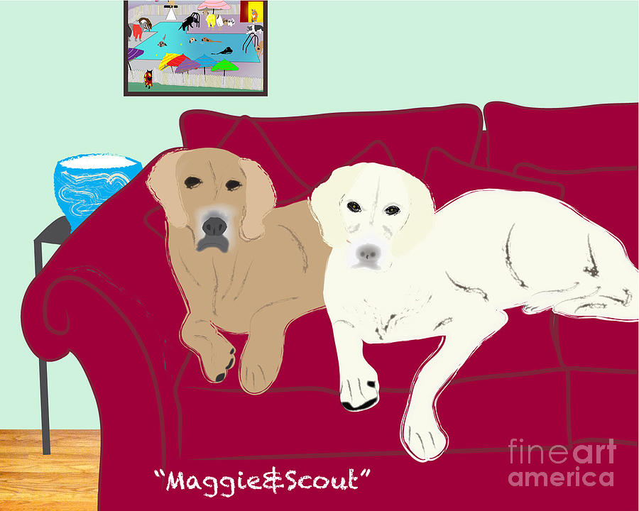 Maggie And Scout Digital Art by Cheryl Snyder