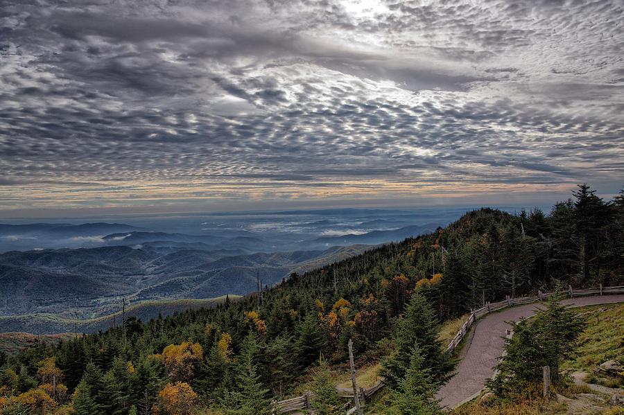 Blue Photograph - Magic Autumn Morning by Daniel Lowe