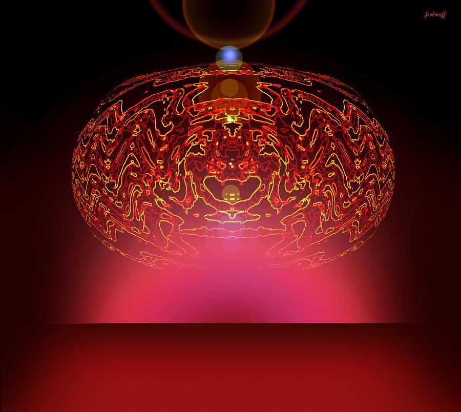 Magic Painting - Magic  Fire by Luminita Feodoroff