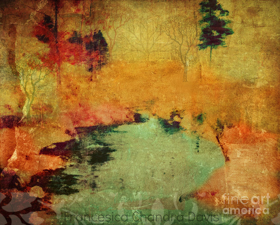 Autumn Painting - Magic In Autumn Mist by Sacred  Muse