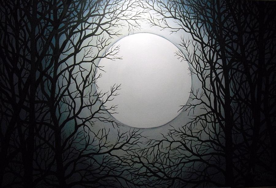 Landscape Painting - Magic Moon by Anne Thomassen