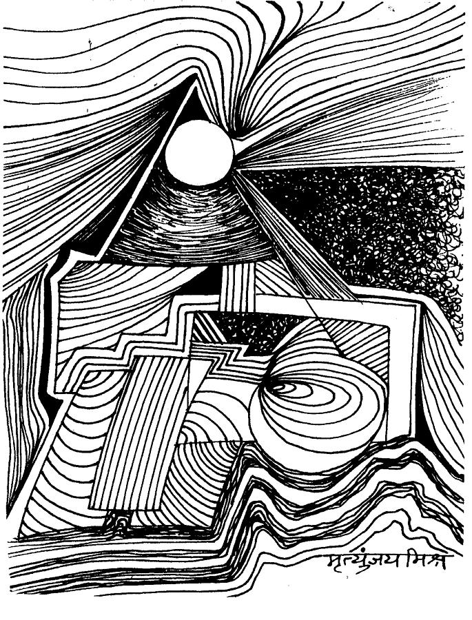 Line Art Work : Magic of lines drawing by mohan mishra mrityunjay