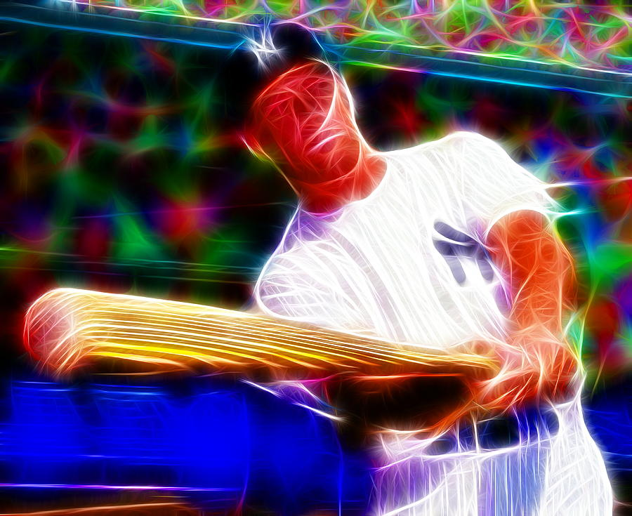 Mickey Mantle Painting - Magical Mickey Mantle by Paul Van Scott