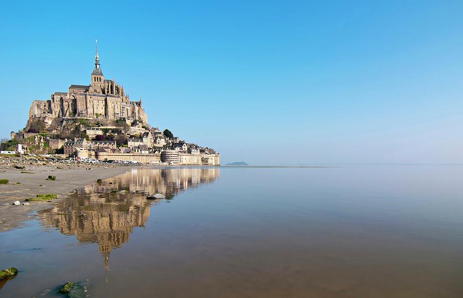 Horizontal Photograph - Magical Mont Saint-michel by Paul Biris
