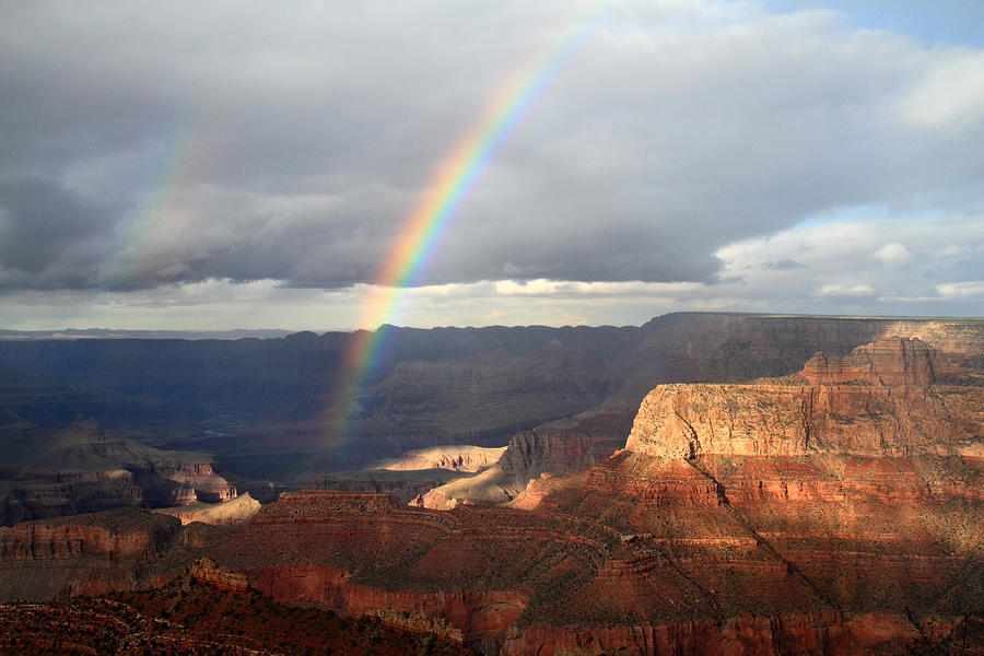 Rainbow Photograph - Magical Rainbow In The Grand Canyon by Pierre Leclerc Photography