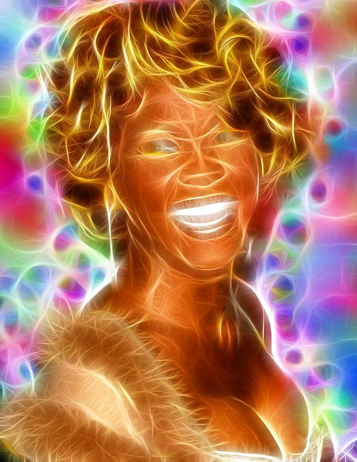 Whitney Houston Digital Art - Magical Whitney by Paul Van Scott