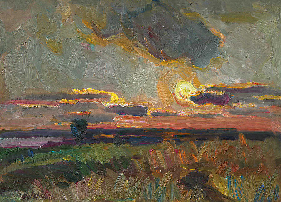 Sea Painting - Magical World Of Sunset by Juliya Zhukova