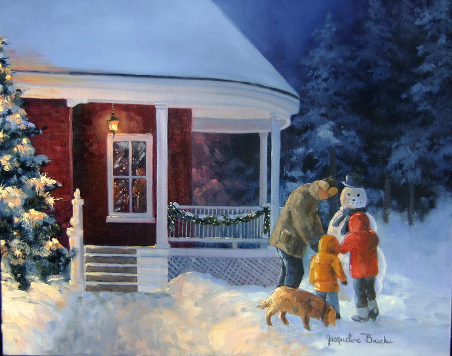 Winter Painting - Magie Dhiver by Jacqueline Brochu