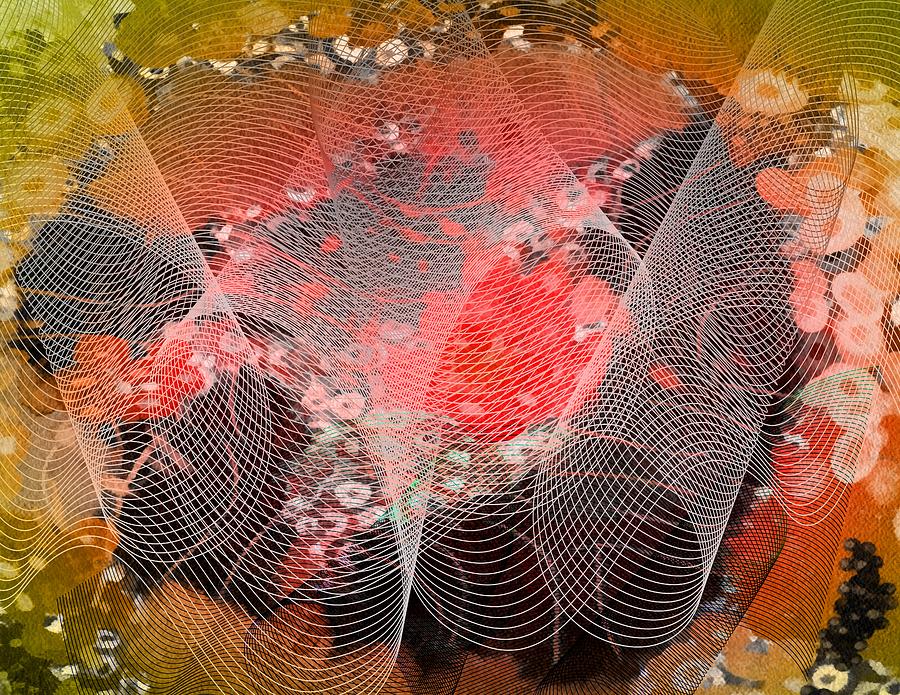 Abstract Mixed Media - Magnification 4 by Angelina Vick