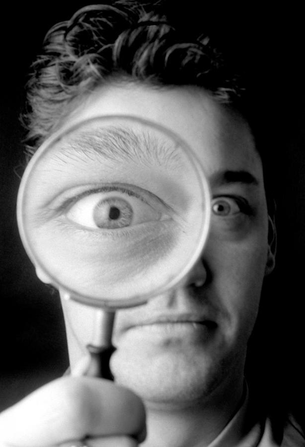 Eye Photograph - Magnified Eye by Victor De Schwanberg