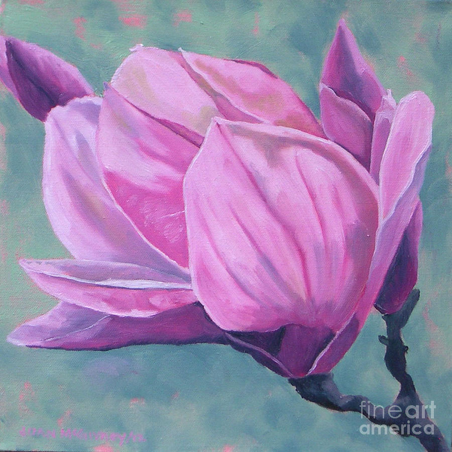 Plants Painting - Magnolia  3 by Joan McGivney
