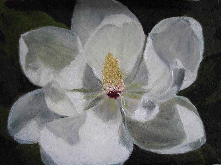 Magnolia Painting - Magnolia by Iris Nazario Dziadul