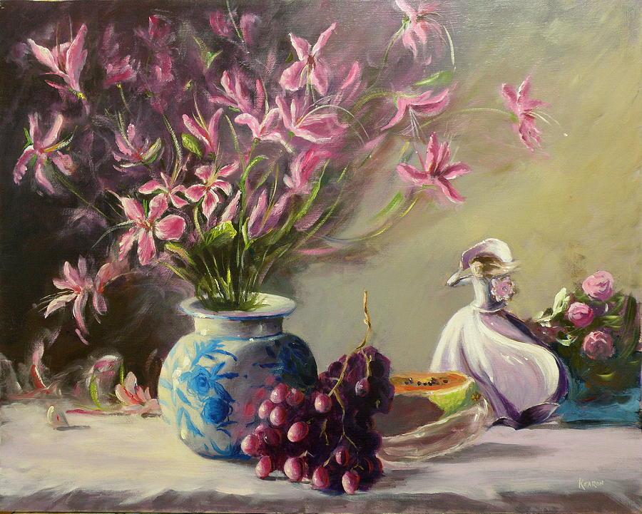 Still Life Painting - Magnolias by Thomas Kearon