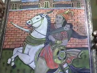 maharani laxmi bai painting by rameshwar dhomne