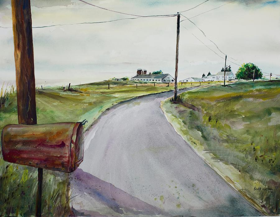 Watercolor Painting - Mail Call by Scott Nelson