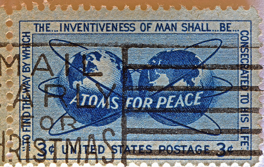 Atoms For Peace Photograph - Mail Early For Christmas And Peace by Bill Owen