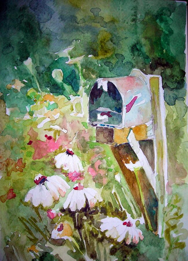 Mailbox Painting By Karen Liebman