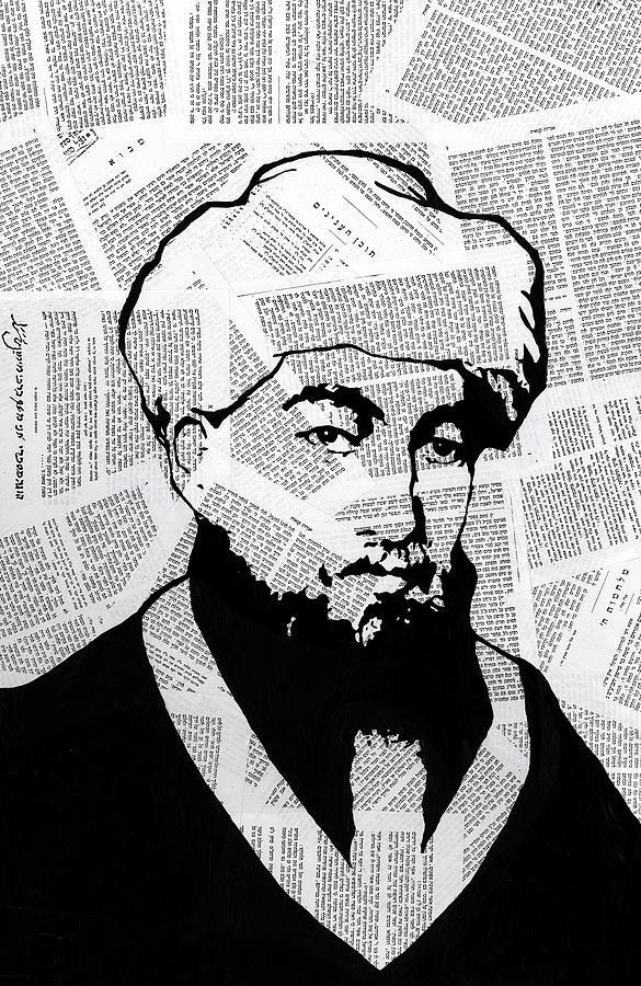 Moses Maimonides Painting - Maimonides by Anshie Kagan