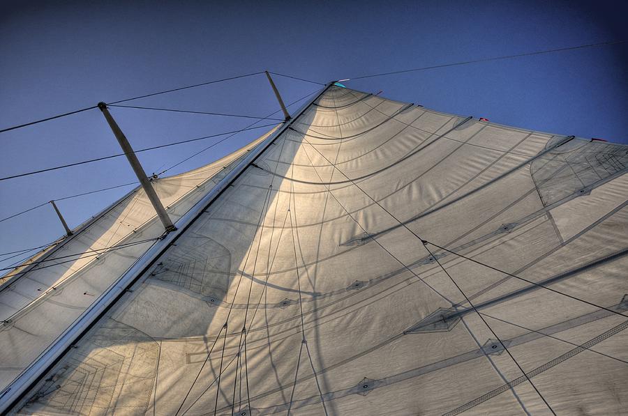 Boat Digital Art - Main Sail by Barry R Jones Jr