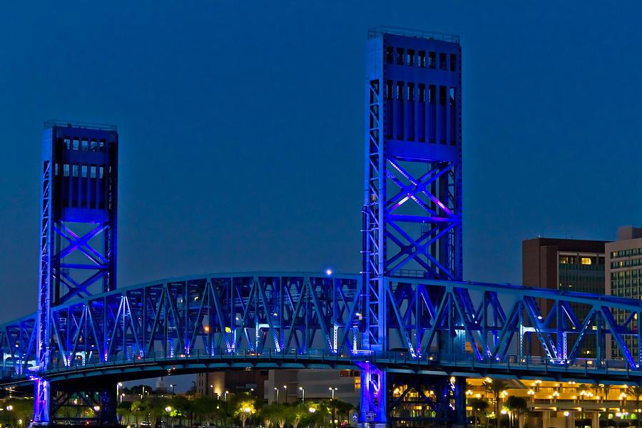 Florida Photograph - Main Street Bridge Jacksonville by Debra and Dave Vanderlaan