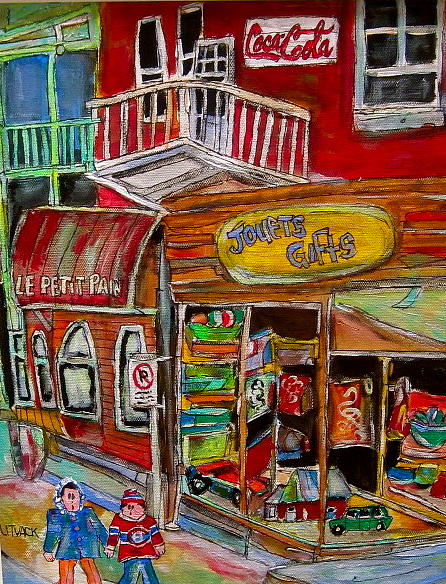 Montreal Canadiens Painting - Main Street Everywhere by Michael Litvack