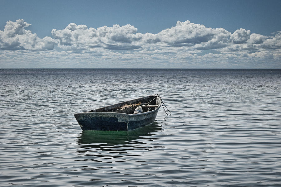 Maine Boat Looking Out To Sea Photograph by Randall Nyhof