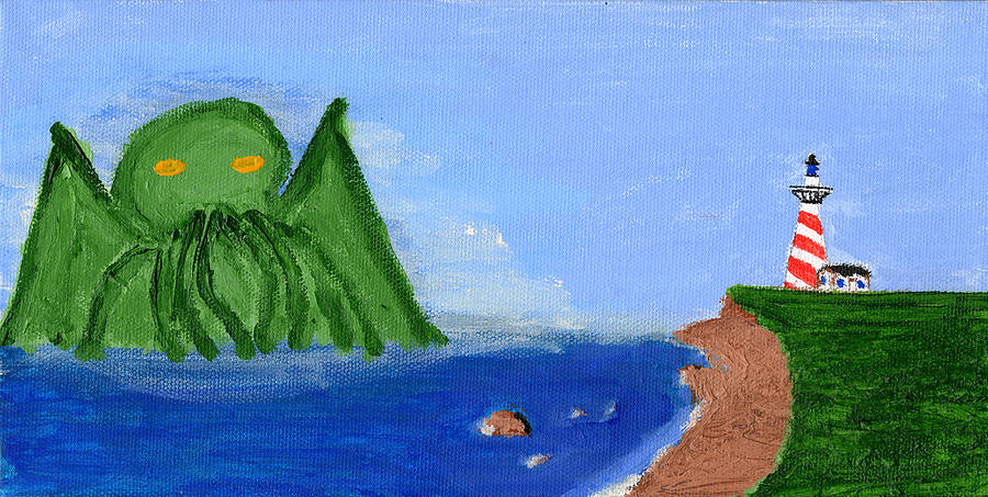 Maine Painting - Maine Gets Eaten First by Shaun Clayton