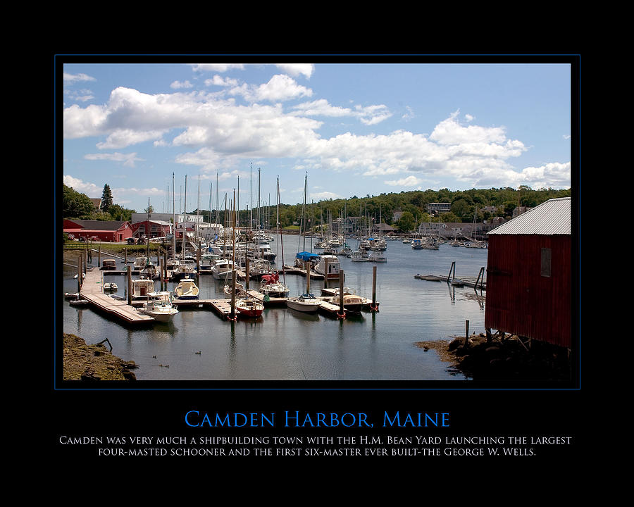 Camden Photograph - Maine Harbour by Jim McDonald Photography