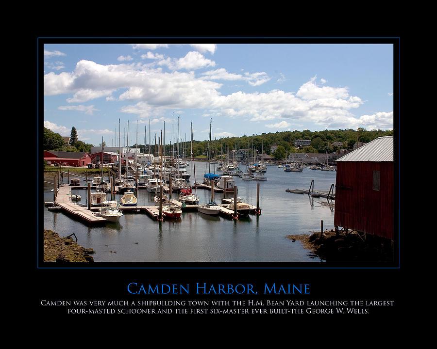 Camden Photograph - Maine Harbour by Jim McDonald Photography